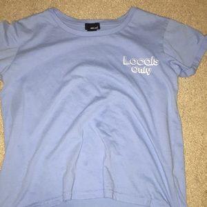 locals only light blue t shirt
